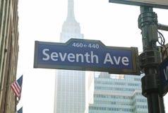 Seventh avenue sign Stock Photo