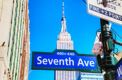 Seventh avenue sign Royalty Free Stock Images