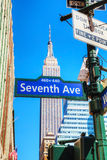 Seventh avenue sign Stock Images