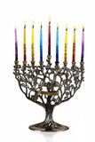 Seventh day of Chanukah. XXL. Chanukah Menorah. Seventh day of Chanukah. XXL Stock Photos