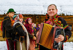 Seventh Ethnic Festival Christmas Carols in the old village Royalty Free Stock Photography