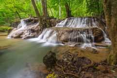 Seventh floor Huay Mae Kamin waterfall. Thailand Stock Images