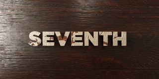 Seventh - grungy wooden headline on Maple  - 3D rendered royalty free stock image. This image can be used for an online website banner ad or a print postcard Stock Photos