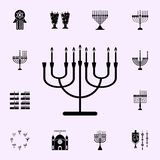 Seventh night of Chanukah icon. Hanukkah icons universal set for web and mobile. On white background vector illustration
