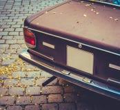 Seventies Brown Car Stock Image