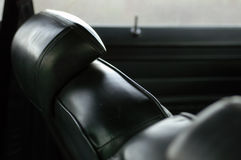 Seventies car interior stock photos