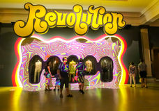 Seventies exhibition. Revolution, an exhibition on the seventies, at Montreal Museum of Fine arts Royalty Free Stock Image
