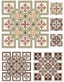 Seventies linoleum inspired graphics Royalty Free Stock Images
