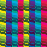 Seventies Retro Background. Seventies style colorful stripes effect Stock Images