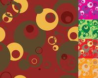 Seventies variation round Stock Photography