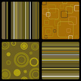 Seventies wallpaper brown. Abstract background in the style of 70's wallpaper in brown Royalty Free Stock Images