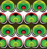 Seventies wallpaper pattern Stock Images