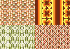 Seventies wallpapers Stock Image