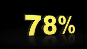 Seventy-eight rendições dos por cento 3D de 78% Imagem de Stock