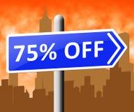 Seventy Five Percent Off Indicating Discount 3d Rendering. Seventy Five Percent Off Sign Indicating Discount 3d Rendering Royalty Free Stock Images