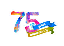 75 seventy five years anniversary. Stock Image