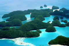 Seventy Islands. Aerial view of Palau's seventy islands Stock Photo
