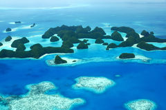 Seventy Islands. Aerial view of Palau's seventy islands Royalty Free Stock Photos