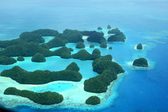 Seventy Islands. Aerial view of Palau's seventy islands Stock Image