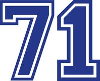 Seventy-one faculdades número 71 Imagem de Stock