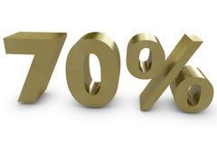 Seventy percent Royalty Free Stock Photo