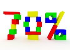 Seventy percent Stock Photography