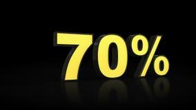 Seventy 70 % percent 3D rendering Stock Images