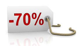 Seventy percent discount Royalty Free Stock Image