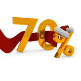 Seventy percent discount Royalty Free Stock Images