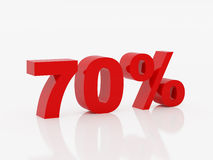 Seventy percent of red color Stock Image