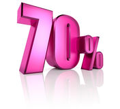 Seventy Percent Sign Royalty Free Stock Image