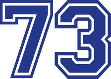Seventy-three faculdades número 73 Imagem de Stock
