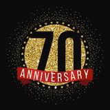 Seventy years anniversary celebration logotype. 70th anniversary logo. Anniversary banner Royalty Free Stock Images