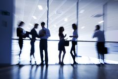 Silhouettes of businesspeople Royalty Free Stock Photography
