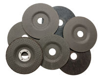 Several abrasive discs for metal cutting Royalty Free Stock Photos