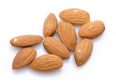 Several almonds Royalty Free Stock Photos