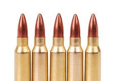 Several ammo for the automatic weapons. On a white background Stock Images