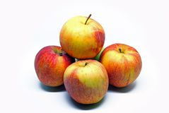 Several apples folded by a slide royalty free stock images
