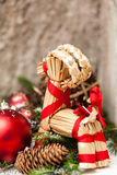 Several assorted Christmas ornaments Stock Images