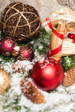 Several assorted Christmas ornaments Royalty Free Stock Image