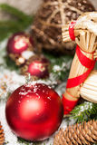 Several assorted Christmas ornaments Royalty Free Stock Photography