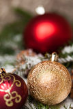 Several assorted Christmas ornaments Stock Photography