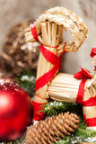 Several assorted Christmas ornaments Royalty Free Stock Photo