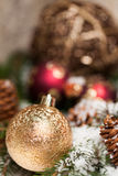 Several assorted Christmas ornaments Royalty Free Stock Photos