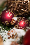 Several assorted Christmas ornaments Royalty Free Stock Images