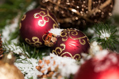 Several assorted Christmas ornaments Stock Image