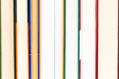 Several backs of a series of closed books. Closeup, several backs of a series of closed books royalty free stock image