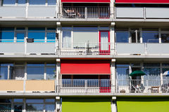 Several balconies of a building Stock Photos