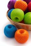 Several balls for crochet Royalty Free Stock Image
