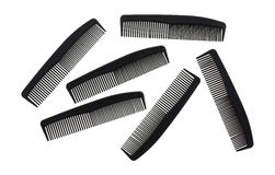 Several barber shop black combs Royalty Free Stock Photos